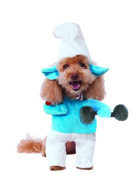 Walking Hefty Smurf Costume for Pet