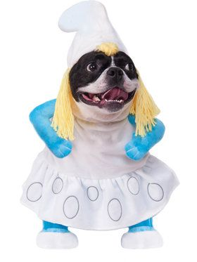 Walking Smurfette Dog Costume