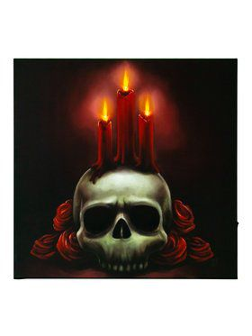 Wall Art - Skull and Candles
