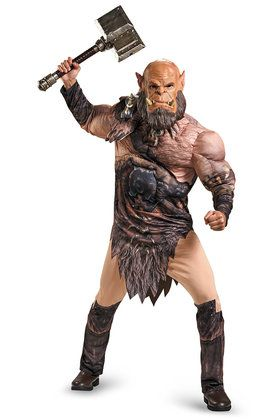 Warcraft Ogrim Deluxe Muscle Adult Costume