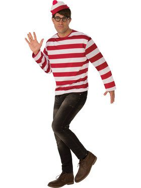 Where's Waldo Costume for Adults
