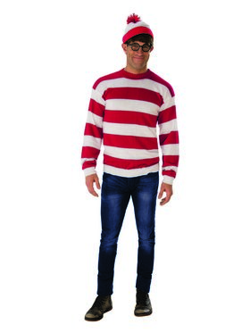 Where's Waldo Deluxe Costume for Adults