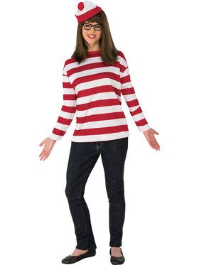 Where's Waldo Curvy Wenda Costume for Women