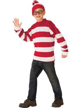 Where's Waldo Deluxe Costume for Children