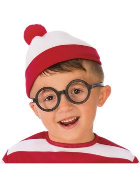 Where's Waldo Black Rimmed Glasses