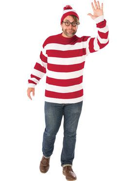 Where's Waldo Adult Costume (Plus Size)