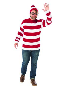 Where's Waldo Plus Size Costume for Adults
