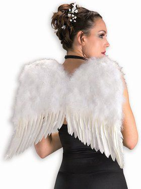 "White 22"" Feather Wings"