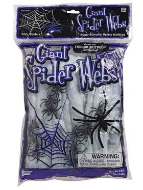Spider Web with Faux Spiders Decoration Kit