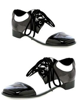 White And Black Oxford Shoe Adult