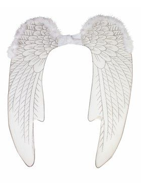 White Accessory Angel Wings Large
