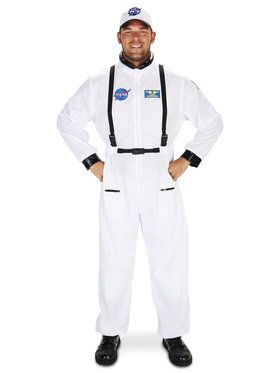 White Astronaut Costume For Adults