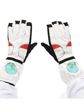 White Astronaut Adult Gloves