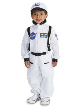 White Astronaut Costume For Toddlers
