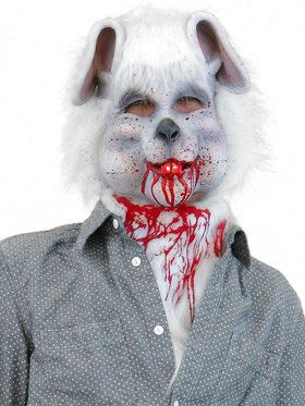White Bloody Rabbit Mask