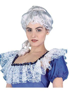 White Colonial Lady Wig Adult