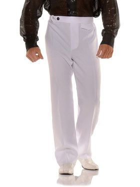 White Disco Pants Men's Costume