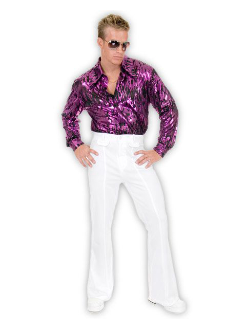 Charades Costumes White Disco Pants For Men