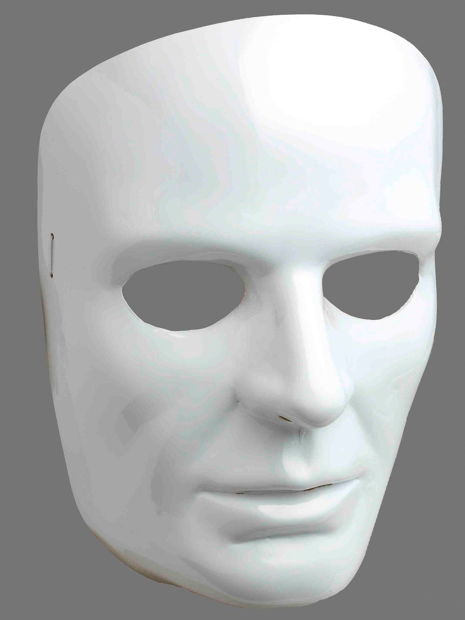 white face mask-male - costume accessories for 2018 | wholesale