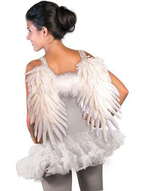 Feathered White Angel Wings
