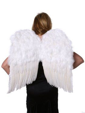 White Feather Up Women's Wings