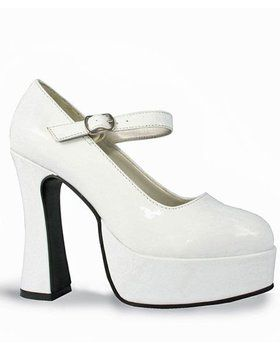 White Patent Mary Jane Shoes Adult