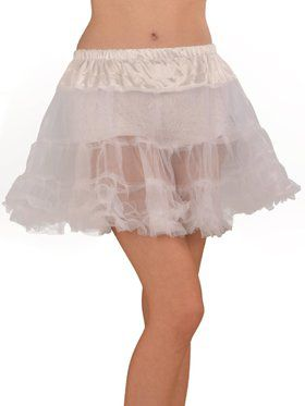 White Petticoat Adult Plus