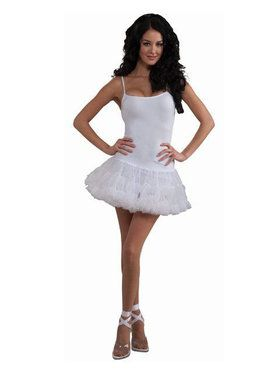 White Petticoat Dress Adult