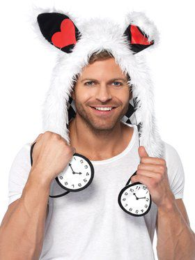 White Rabbit Hood Adult