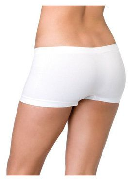 White Seamless Boy Shorts for Adults