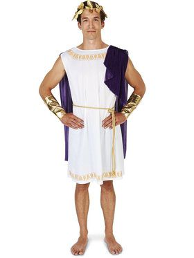 White Toga (Short) Man Costume For Adults