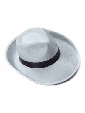 Adult Velvet Fedora Hat With Black Band