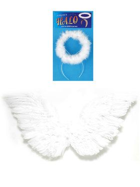 White Wings And Halo Set