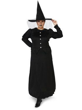 Plus Size Wicked Witch Costume For Adults