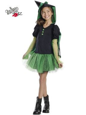 Wicked Witch Of The West Tutu Girl's Costume