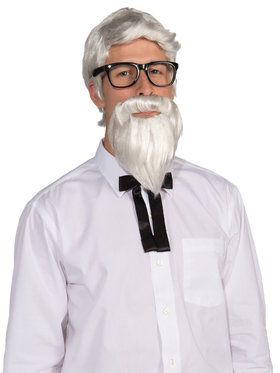 Wig and Beard Adult Southern Colonel