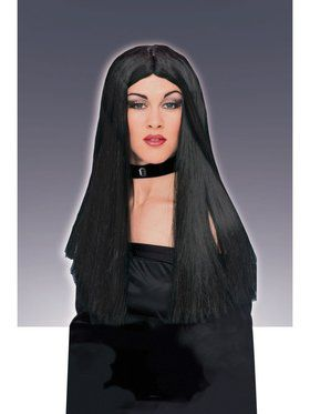 Wig Long Black Accessory