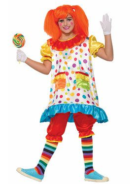 Wiggles The Clown Girl's Costume
