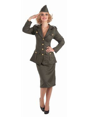 Adult WWII Army Gal Adult Costume
