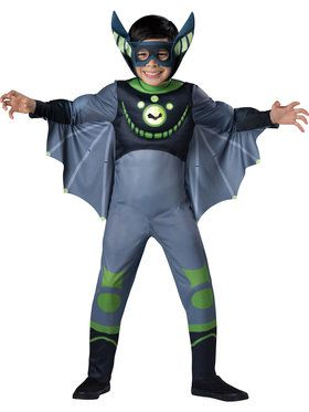 Wild Kratts Green Bat Boys Costume