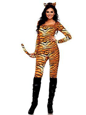 Wild Tigress Catsuit Sexy Women's Costume