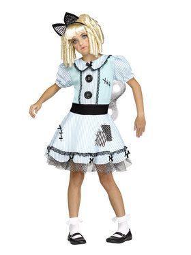Girls Wind-Up Doll Costume