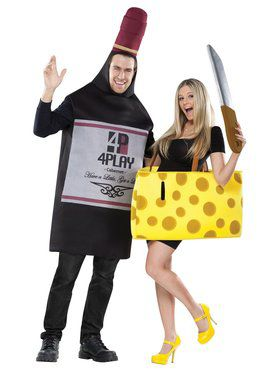 Wine & Cheese Couple Adult Costume