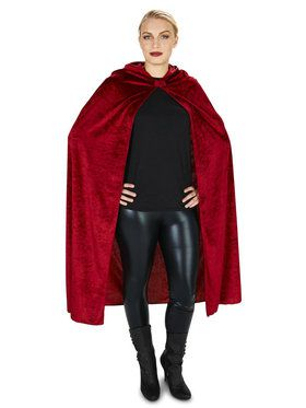 Wine Velvet Cape For Adults