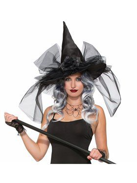 Witch & Wizard Deluxe Adult Witch Hat