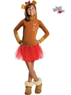 Wizard of Oz Cowardly Lion Hooded Tutu Girl's Costume
