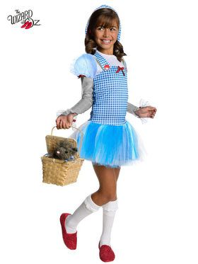Wizard Of Oz Dorothy Tutu Girls Costume