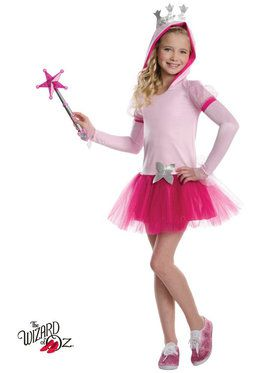 Wizard of Oz Glinda Hoodie Tutu Girls Costume