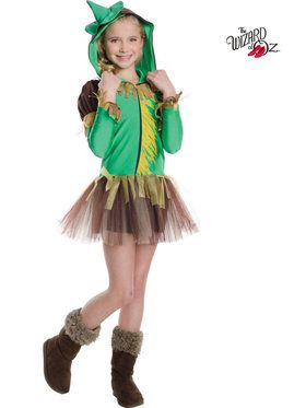 Wizard of Oz Scarecrow Hooded Tutu Girl's Costume