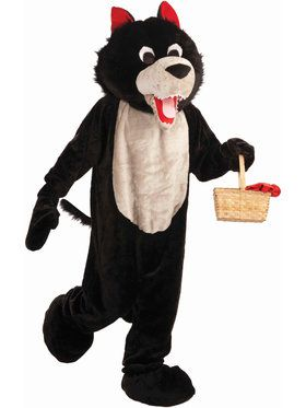 Wolf Mascot Costume For Adults